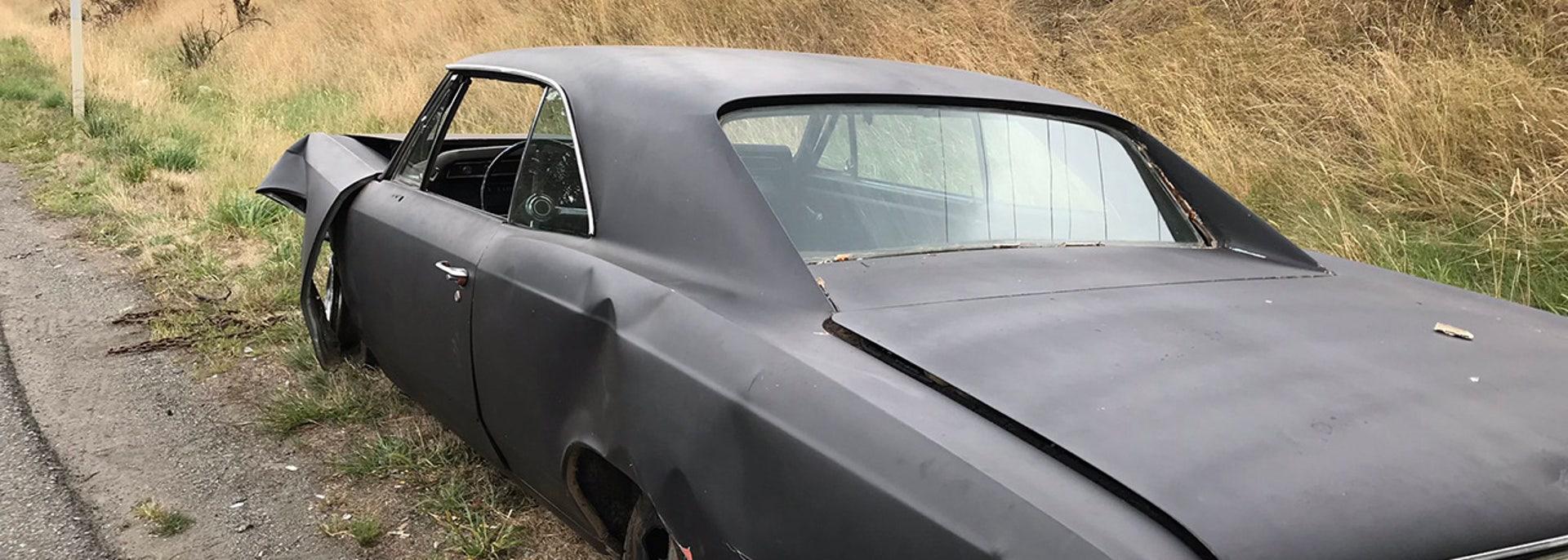 1967 Chevrolet Chevelle crashes