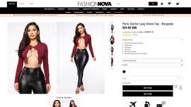 Fashion Nova's revealing lace-up top causes confusion: 'Is she wearing it backwards?'