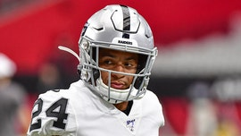 Raiders' Johnathan Abram crashes into TV cart during play in scary moment