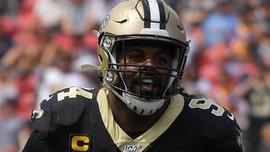 New Orleans Saints' Cam Jordan jabs referees after blown fumble call