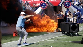 Fire erupts on field before game between Colts and Titans in Tennessee