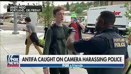 WATCH: Antifa members caught on camera harassing Portland police near climate rally