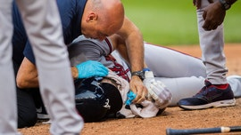 Atlanta Braves' Culberson suffers facial fractures after taking pitch to face on bunt attempt, team says