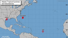 Triple threat storm systems form, expected to impact Texas, Bermuda with rainfall, winds