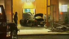 Car plows into lobby of Trump Plaza condominium complex