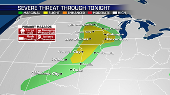Strong storms move across Midwest; above average temperatures continue across South