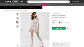 ASOS mocked for 'see-through' lacy jumpsuit sold in bridal section