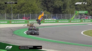 Formula 3 driver fractures vertebrae during violent airborne crash: report
