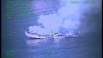 Aerial video captures dive-boat engulfed in flames before sinking off Southern California coast