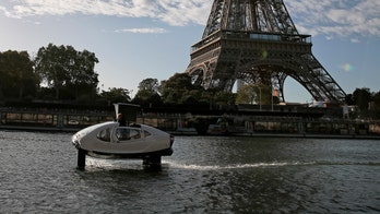 'Flying taxi' pulled over by police on the River Seine in Paris: report