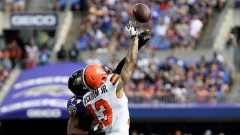 Cleveland Browns' Odell Beckham Jr gets into scrap with Baltimore Ravens defensive back