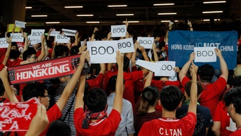 Hong Kong soccer fans boo Chinese national anthem at World Cup qualifier
