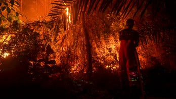 Indonesia fires turn sky an eerie blood red