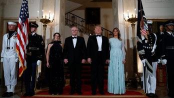 Trumps host Australian prime minister for rare state dinner in Rose Garden