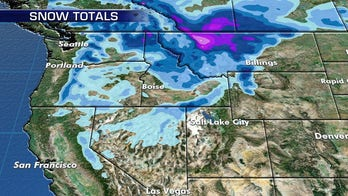 Early season snow tapers off across higher elevations of the interior West and Northern Rockies