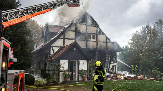 German mom, daughter facing eviction blow up house: police