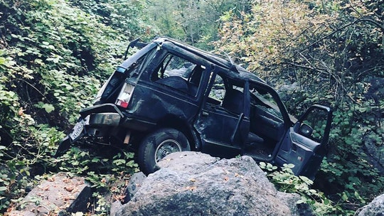 Five people injured when SUV tumbles 200 feet down California canyon, driver suspected of DUI