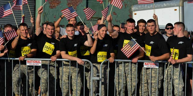 Patriotism at the Tunnel to Towers race in 2014. (Courtesy of Tunnel to Towers Foundation/Clare Photography)