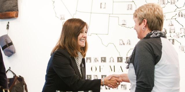 Second lady Karen Pence visited R. Riveter's North Carolina warehouse in November 2018.