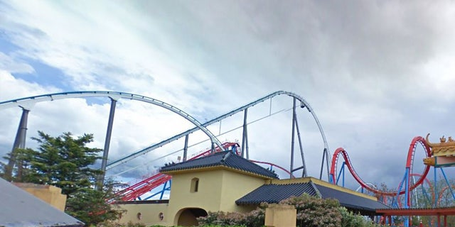 An image of theShambhala ride atPortAventura World theme park in Spain.