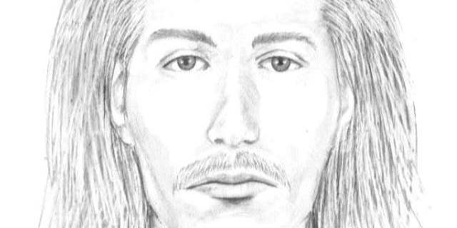 A composite sketch of the suspect in the cemetery attack.