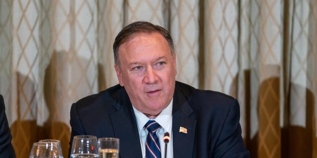 Secretary of State Michael R. Pompeo in New York on Thursday. (State Department photo by Ron Przysucha)