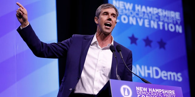 In this Sept. 7, 2019 file photo, then-Democratic presidential candidate former U.S. Rep. Beto O'Rourke, D-Texas, speaks during the New Hampshire state Democratic Party convention, in Manchester, N.H.