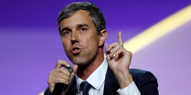Democratic presidential candidate Beto O'Rourke speaks during a candidates forum at the 110th NAACP National Convention in Detroit, July 24, 2019. (Associated Press)