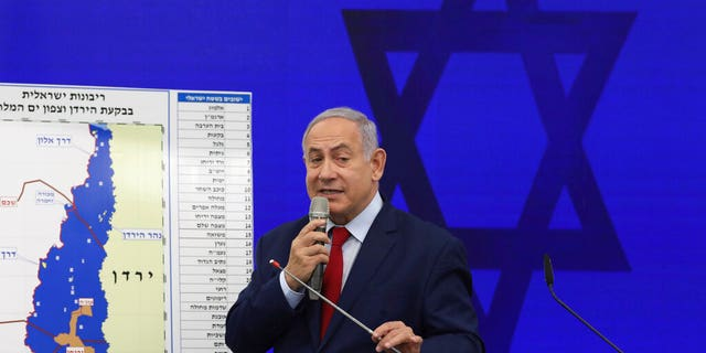 Netanyahu in Tel Aviv on Tuesday.