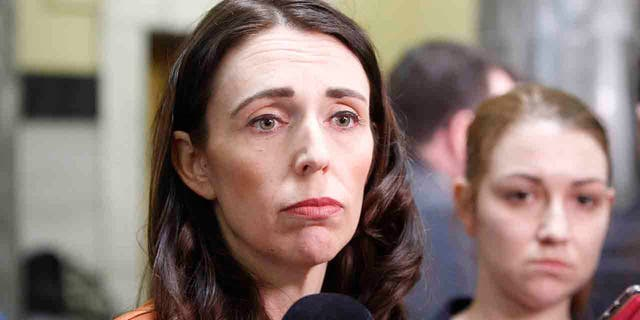 New Zealand Prime Minister Jacinda Ardern talks to reporters on Wednesday, Sept. 11, 2019, in Wellington, New Zealand. Ardern was facing a difficult test of her leadership after her party president resigned over the party's handling of a sexual assault complaint.
