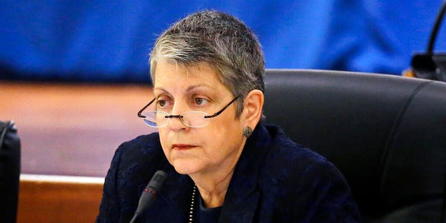 FILE: University of California President Janet Napolitano attends a meeting of the UC Board of Regents in San Francisco.