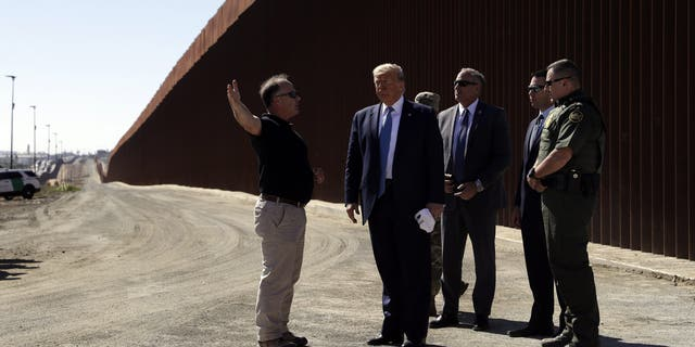 Border wall outside San Diego gets Trump visit