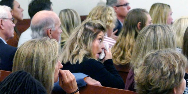 People wipe tears while they listen as Trystan Andrew Terrell is sentenced. (John D. Simmons/The Charlotte Observer via AP)