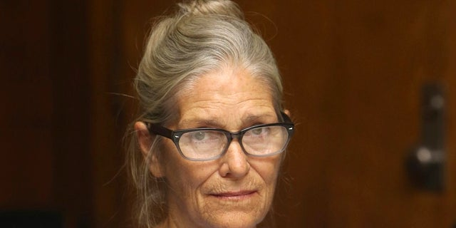In this Sept. 6, 2017 file photo, Charles Manson follower Leslie Van Houten attends her parole hearing at the California Institution for Women in Corona, Calif. A California appeals court denied Van Houten's latest bid for parole on Friday. (Stan Lim/The Orange County Register via AP, Pool, File)