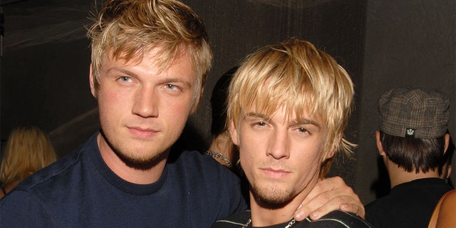 Nick Carter, left, and Aaron Carter, seen in 2006. (Mark Sullivan/WireImage, File)