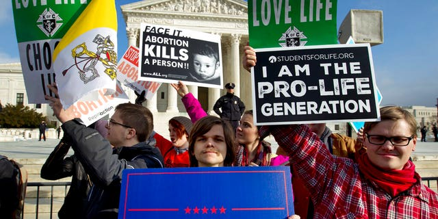 FILE - The number and rate of abortions across the United States have plunged to their lowest levels since the procedure became legal nationwide in 1973, according to new figures released Wednesday, Sept. 18. (AP Photo/Jose Luis Magana, File)