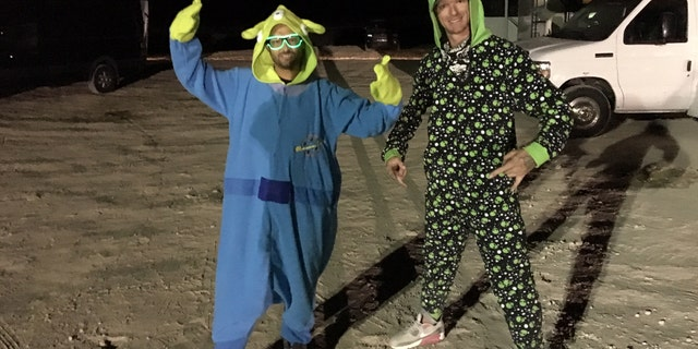 "Austin Bustos (left) and Johnny Blaze (right) felt the Area 51 Basecamp in Hiko was ""absolutely amazing."""