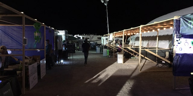 The Area 51 Basecamp featured an organized area of vendors and food spots.