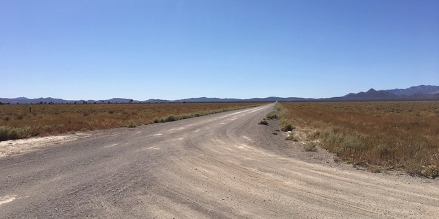 The road that leads to the main gate of Area 51 intersects other dirt and gravel roads, making it easy to get lost.