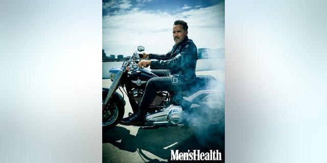 Arnold Schwarzenegger in the October issue of Men's Health
