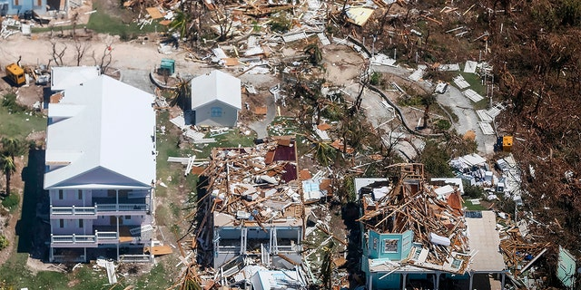 The storm wrecked homes on Grand Bahama Island.