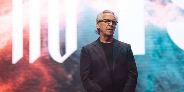 Bill Johnson, the senior lead pastor of Bethel Church in Redding, Calif., speaking at Heaven Come conference in Los Angeles.