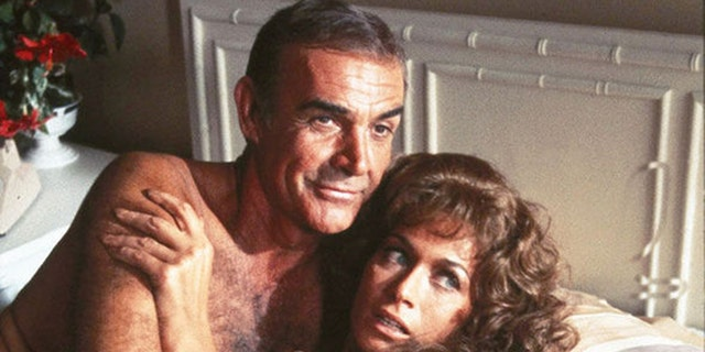 Sean Connery and Valerie Leon are seen in