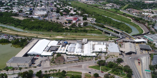 A U.S. Customs and Border Protection tent facility where immigration hearings are held by video teleconference is seen in an aerial photo in Brownsville, Texas, U.S. September 12, 2019.
