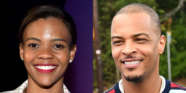 Things got heated between rapper T.I. (R) and conservative commentator Candace Owens over the weekend.