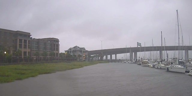 Flooding was reported in Charleston, S.C. early Thursday as Hurricane Dorian neared the area.