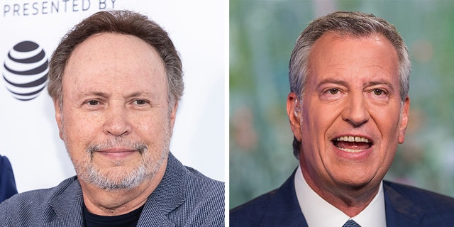 Billy Crystal said that New York City Mayor Bill de Blasio needs to clean the garbage around the city.