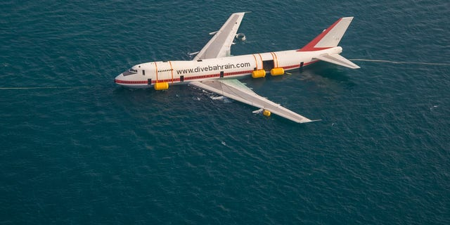 Dive Bahrain towed the decommissioned 747 out into the Persian Gulf in June. The aircraft was subsequently sunk and affixed to the seabed.