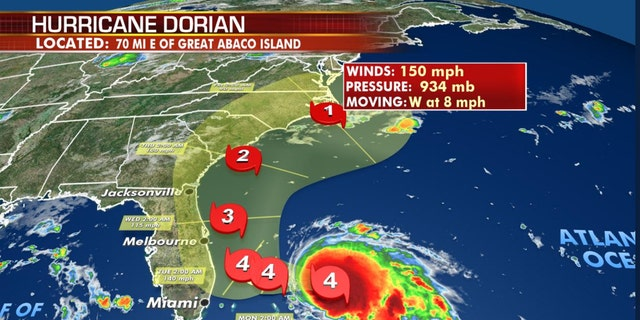 Westlake Legal Group DorianTracker2 Hurricane Dorian bears down on Bahamas with 160 mph winds as islands hunker down, 'taking no chances' Travis Fedschun fox-news/world/disasters/hurricanes-typhoons fox-news/weather fox-news/us/disasters/hurricanes-typhoons fox-news/us/disasters fox-news/science/planet-earth/natural-disasters/hurricane-dorian fox news fnc/us fnc article 169f3af9-5983-5802-acb2-3845e1740753