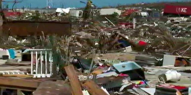 A glimpse of the destruction on Abaco Island, Bahamas.
